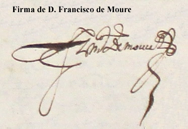 Firma de D. Francisco de Moure