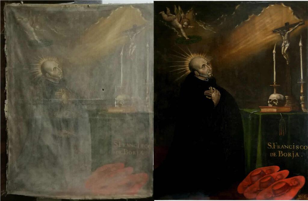 San Francisco de Borja, oil on canvas 1666. Anonymous