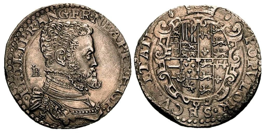 Moneda de Medio Ducado de plata